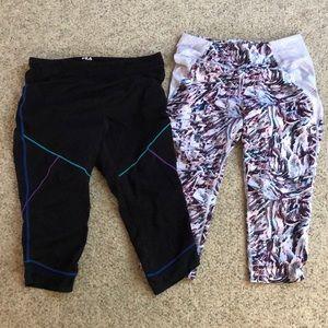 2 pair FILA Sport Capri Pants Size XL